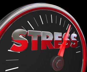 Stress Level Rising Speedometer Gauge Word 3d Illustration